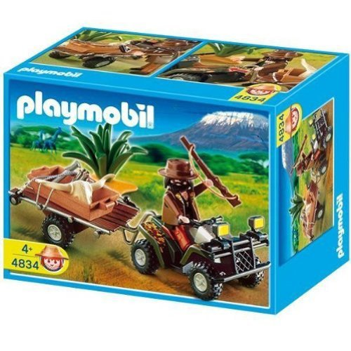 Playmobil Ranger with Quad Bike and Trailer