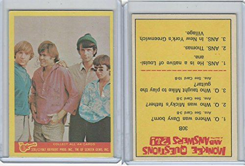 1967 Donruss, The Monkees, Color Series B, (32b Colour)