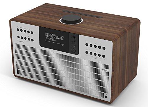 Revo SuperCD Internet-/DAB+ radio met CD (40 Watt, stereo geluid, cd-speler, internet/DAB+/DAB/UKW, Spotify, WLAN, LAN…