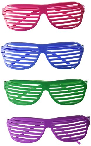 Rhode Island Novelty 24 Pairs of 80's Sunglasses Party - Favor Glasses