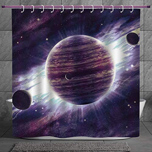 Space Cat Water Proof Polyester Fabric 66 X 72 Shower Curtain COMIN16JU043624