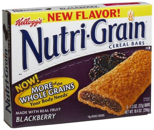 UPC 038000392450, Kellogg's Nutri-Gain Cereal Bars (Blackberry, 10.4 oz Boxes, Pack of 6)