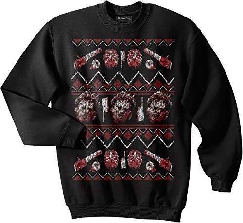 Leatherface sweatshirt, Horror, Canibal, Texas Chainsaw, Ugly Christmas Sweater