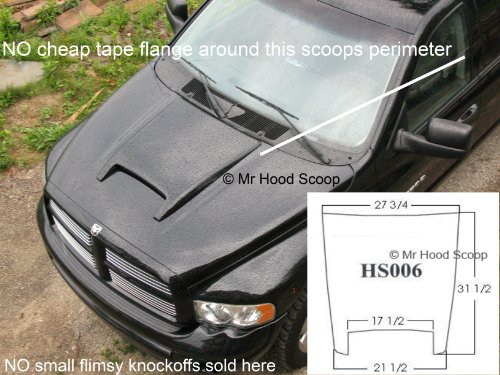 hood scoop for dodge ram 1500 - 5