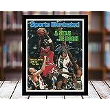 Michael Jordan Sports Illustrated Autograph Replica Print - A Star is Born - Chicago Bulls - 12/10/84-5x7 Desktop Framed Print