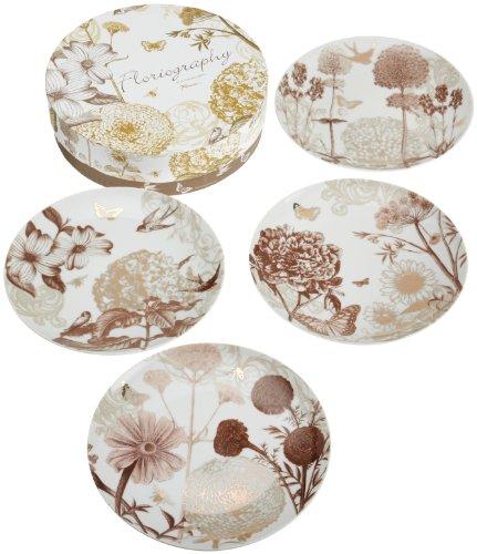 Rosanna Floriography Dessert Plates Set of 4