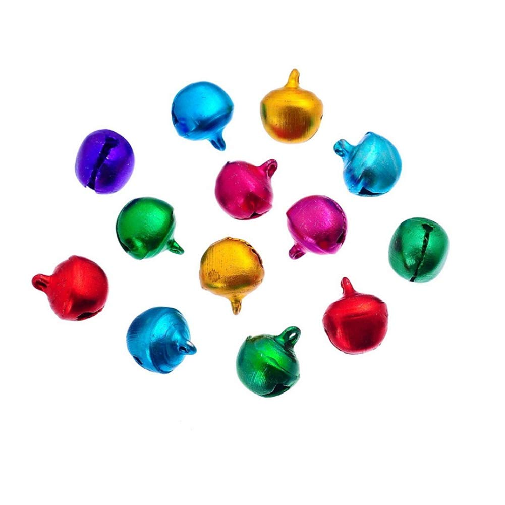 Ebeauty Christmas Jingle Bells, Metal Jingle Bells Bulk Loose Beads Charms Jingle Bells Christmas, Party & Festival Decorations Jewelry Making Craft 8 mm 500pcs