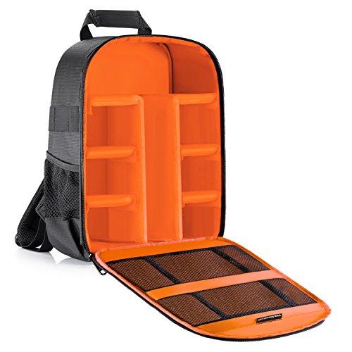 Neewer-Acolchado-Proteccin-de-Insercin-Mochila-Impermeable-para-SLR-DSLR-Cmaras-Sin-Espejo-y-lentes-Luz-de-Flash-Radios-Disparadores-Batera-y-Cargador-Cabes-y-Otros-Accesorios-de-la-Cmara