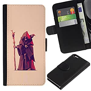 All Phone Most Case / Oferta Especial Cáscara Funda de cuero Monedero Cubierta de proteccion Caso / Wallet Case for Apple Iphone 6 // Fortune Teller Witch Old Man Crow