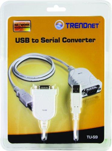 TRENDnet USB 2.0 to RS-232 DB9 Serial Converter, TU-S9
