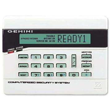 Napco Gemini Alpha/teclado de símbolo (gem-rp2ase2): Amazon ...