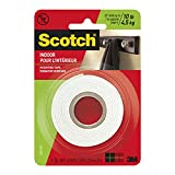 Scotch Indoor Mounting Tape, Double Sided Foam Tape, 1 in x 55 in (2.54 cm x 1.39 m), 214DC-SFEF