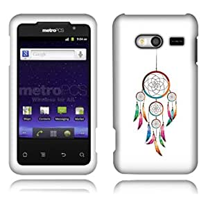 Fincibo (TM) Huawei Activa 4G M920 Premium Hard Plastic Snap On Protector Cover Case - Dream Catcher, Front And Back