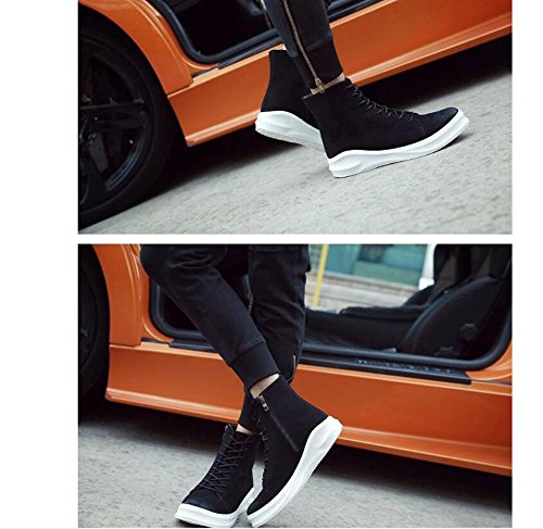 Men Skateboard Bottes High Peak Breathable Automne Hiver Chaussures Hip Hop Street Chaussures Casual Chaussures PU et Su