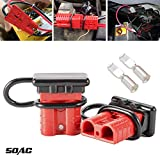 LITE-WAY 6-10 Gauge Battery Quick Disconnect/Connector Kit - 2pcs 50A Quick Connect/Disconnect Wire Harness Plug for Recovery Winch Trailer Driver Electrical Devices