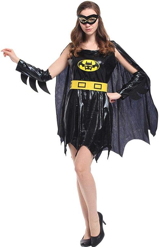CAGYMJ Cosplay Dress Party Ropa,Mujer Batman Mascara Falda Capa ...