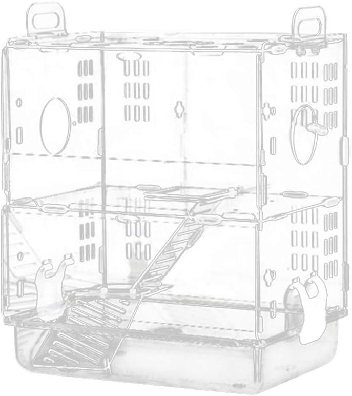 ZZMUK - Jaula de acrílico para hámster, ratón, cobaya, hábitat de Doble Capa para el Espacio de Juego
