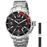 Stuhrling Original Men's 676.01.SET Aquadiver Swiss Quartz Date Bracelet and Rubber Strap Set Watch