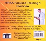 Hipaa Focused Training 1 Overview, Farb, Daniel, 1932634347