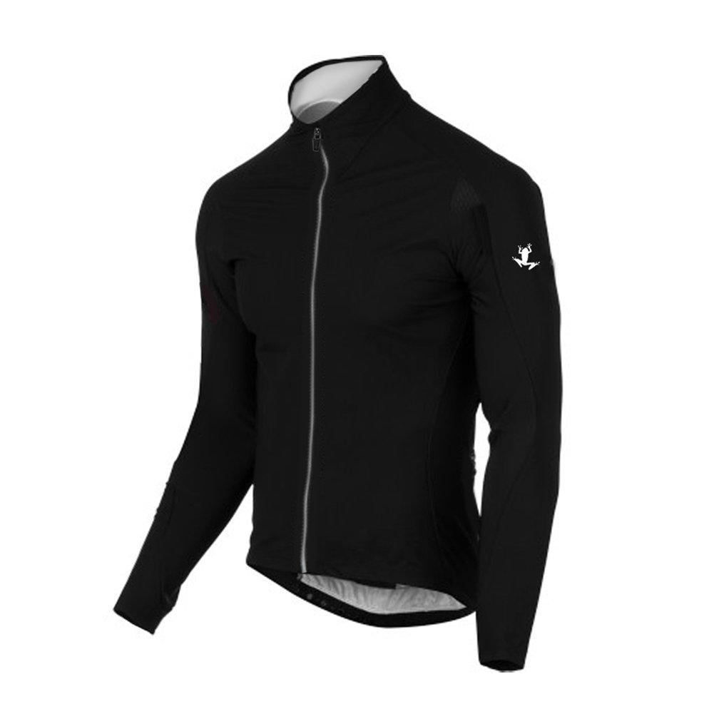Uglyfrog Maglia Team Ciclismo Bianchi Kit di Calzamaglie a Maniche Lunghe Nere con Stampa Pantaloni Bavaglino CX16