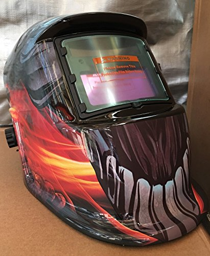 PP III Auto Darkening Solar Powered Welders Welding Helmet Mask with Grinding Function by PP