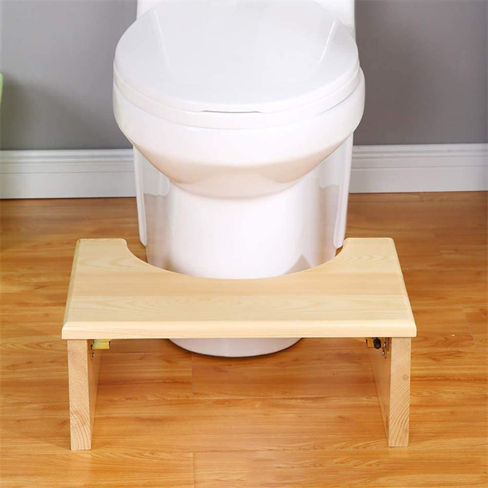 QXWSZ Toilettenhocker Toilette Toilettensockelhocker Treppenhocker F/üR Kinder Aus Massivem Holz Zum Klappen,White