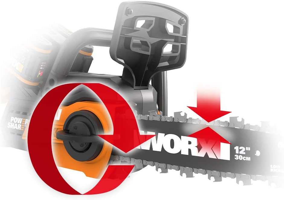 2x Vollmeißel Kette Sägekette p für WORX WG381E WG381E.9 40V Akku Kettensäge
