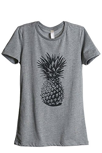 Pineapple Sketch Women's Relaxed T-Shirt Tee Heather Grey Small