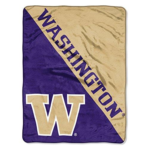 (The Northwest Company Officially Licensed NCAA University of Washington Halftone Micro Raschel Throw Blanket, 46