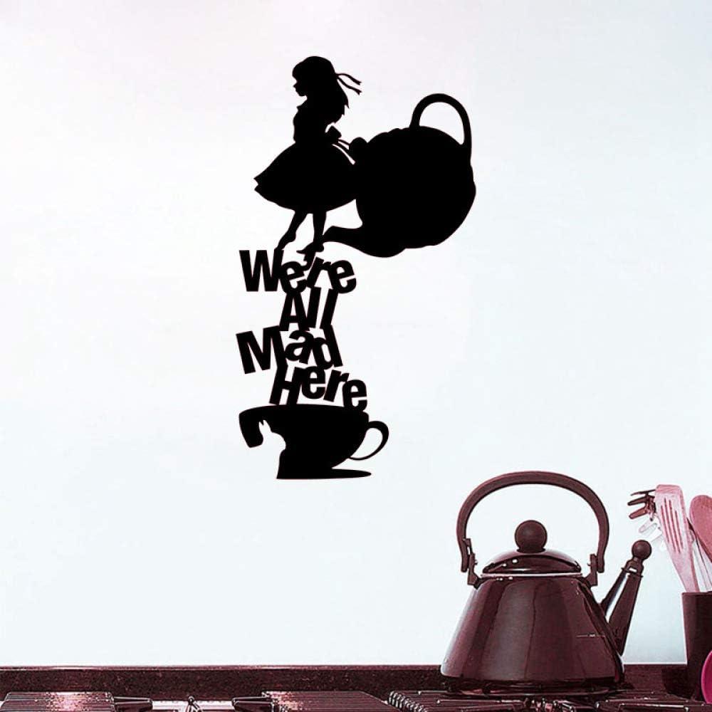 Creativo Inglés Maid Coffee Restaurant Decorativo PVC Negro Graffiti Etiqueta : 20cm x 35cm: Amazon.es: Hogar