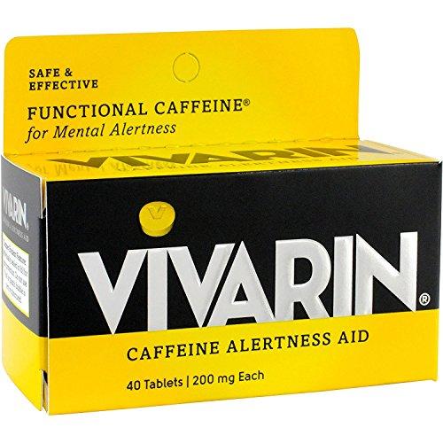 Vivarin Caffeine Alertness Aid, Tablets 40 ea (Pack of - Aid Tablets Caffeine Alertness