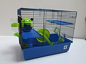 Dexter azul grande & Lime Small Animal Cage Jaula de Hámster 2 ...