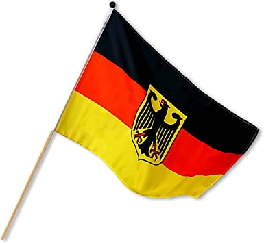 Fahne Deutschland 45x30cm mit Holzstab Fanartikel