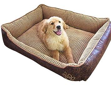 Cama para perros suave y supercálida, tamaño grande, para cachorros, gatos, mascotas, con cómodo forro de polar.: Amazon.es: Productos para mascotas
