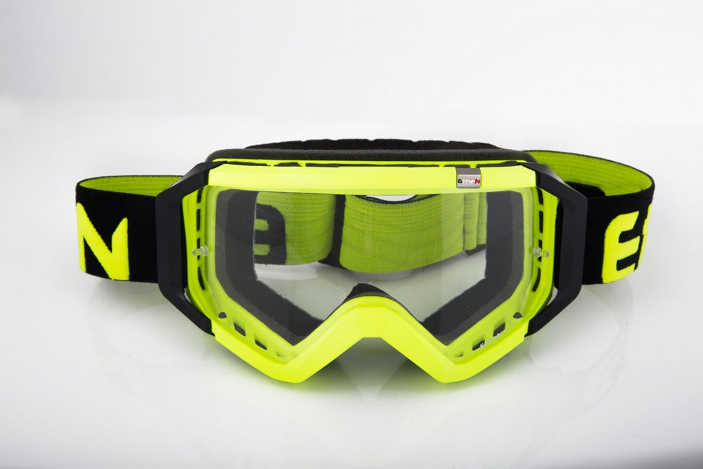 OCCHIALE MASCHERA MX0529 CROSS BASIC GIALLO FLUO DIRT ETHEN ethen occhiali
