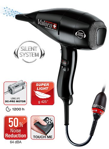 Valera Swiss Silent 6500 Light Ionic Dryer, Black