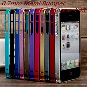 ModernGut Newest Cross Aluminum Frame Case 0.7mm Metal Bumper for Iphone 4 4G 4S with Original Package Wholsesale