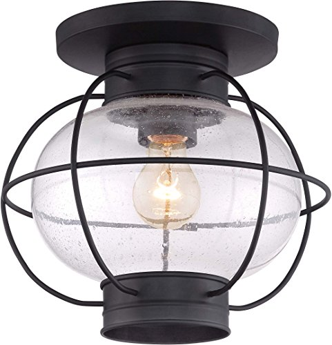 Quoizel COR1611K Cooper Outdoor Flush Mount Lantern, 1-Light, 100 Watts, Mystic Black (11