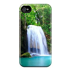 New Diy Design Beautiful Waterfall For Iphone 4/4s Cases Comfortable For Lovers And Friends For Christmas Gifts