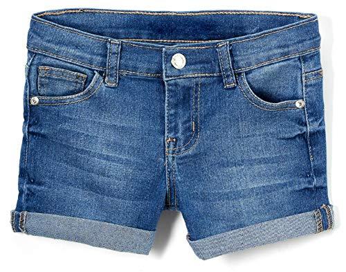 - ToBeInStyle Girl's Denim Mini Shorts - Plain Midwash - 12