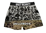 Brief Insanity Old Hollywood Sign Stars Silky Funny Boxer Shorts Gifts for Men Dad