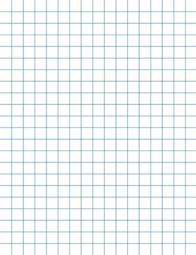 School Smart Double Sided Graph Paper with 1 in Rule - 8 1/2 in x 11 in - Ream of 500 - White by School Smart