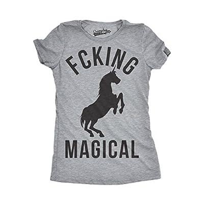 Crazy Dog T-Shirts Womens Magical Funny T Shirts Unicorn Vintage Tees Cool Hilarious Novelty T Shirt