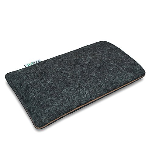 Stilbag Filztasche 'FINN' für Apple iPhone 5 - Farbe: anthrazit/braun