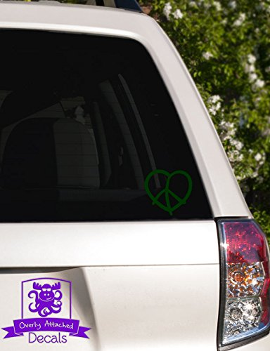 (Overly Attached Decals Heart Peace Sign Vinyl Car Decal - 5