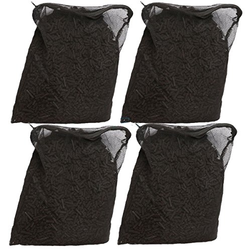 20 Lbs Activated Carbon in 4 Media Bags for Aquarium Fish Koi Pond Filter (Activated Carbon 20 Pounds)