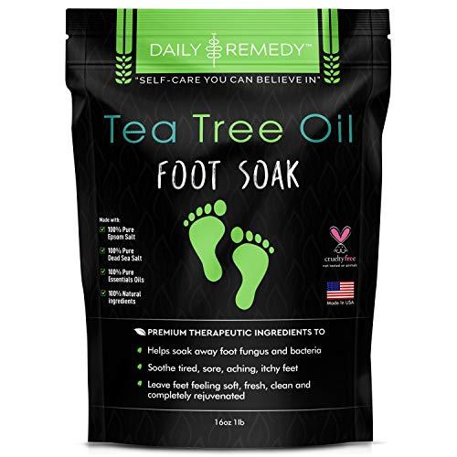 Tea Tree Oil Foot Soak with Epsom Salt – Made in USA – for Toenail Fungus, Athletes Foot, Stubborn Foot Odor Scent…