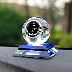 Professional Car Ornament Crystal Ball Decoration Clock Auto Watch Automobiles, Ornaments In Electronics - Huge Glass Ornaments, Swarovski Crystal Rainbow Ornament, Dashboard Ornaments