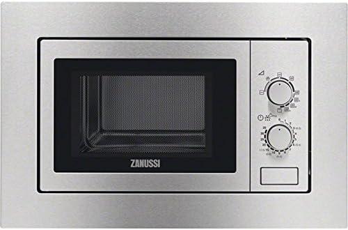 Zanussi ZSG20100XA Encimera 20L 800W Acero inoxidable - Microondas (Encimera, 20 L, 800 W, Giratorio, Acero inoxidable, 1000 W)