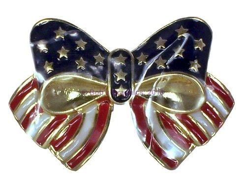 Avon Patriotic Bow Pin